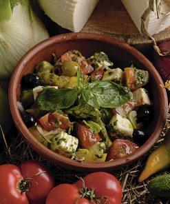Хрустящие овощи  и свежая домашняя брынза