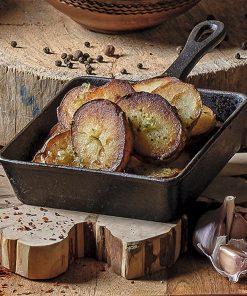 Картошка  жареная кружками из вареной в мундире