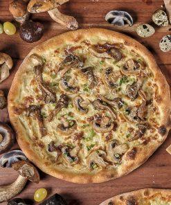 Пицца с грибной  жарехой из подосиновиков