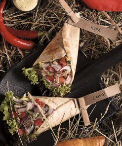 Шавермы деревенские с луком и домашним соусом