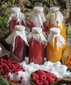 Взвары из протертых карельских ягод-дикоросов